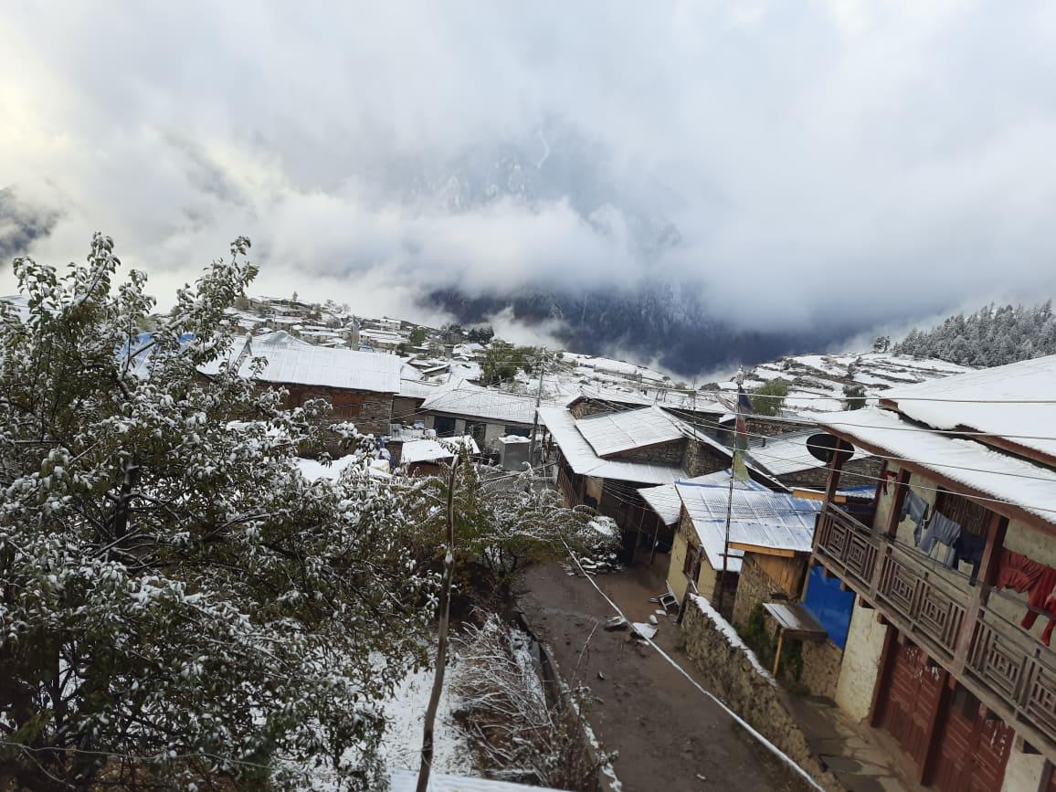 कर्णालीका उच्च हिमाली जिल्लाहरुमा हिमपात